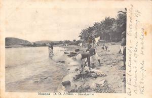 German East Africa Tanzania Mwanza Muanza Strandpartie Natives Postkarte Card