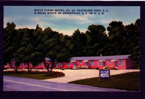 SC Holly Farms Motel TRAVELERS REST SOUTH CAROLINA PC
