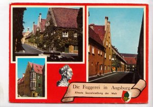 Die Fuggerei in Augsburg, Alteste Sozialsiedlung der Welt, 1985 used Postcard