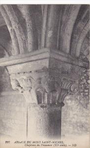 France Abbaye du Mont Saint-Michel Chapiteau du l'romenoir