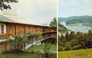 Norris Tennessee 1950-60s Postcard Norris Dam Motel Overlooking Norris Lake