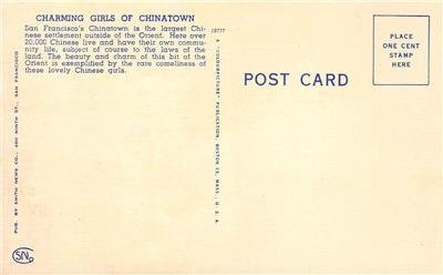 Charming Girls of Chinatown San Francisco Firecrackers c1940s Vintage Postcard