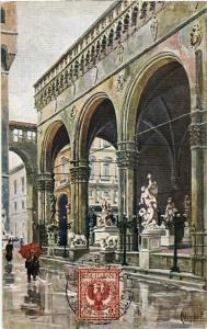 CPA FIRENZE Loggia dell'Orgagna . ITALY (501921)
