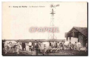 Old Postcard Camp de Mailly Military butchery Militaria