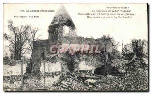 Old Post Card Ham Chateau Dynamite by the Krauts Army