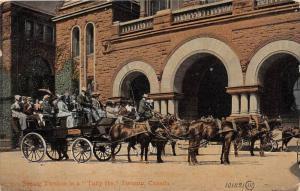 1451 Toronto Seeing Toronto in a Tally Ho Tourist Bus Horse drawn
