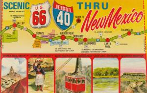 ROUTE 66 , New Mexico , 1950-60s ; Map
