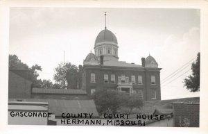 LPSS80 Hermann Missouri Gasconade County Court House Postcard RPPC