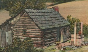 A Mountain Home In Great Smoky Mountains Western NC Linen Vintage Postcard