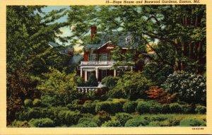 Maryland Easton Hope House and Boxwood Gardens Curteich