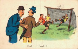 Artist Signed Playing Soccer Goal! Penalty! 05.34