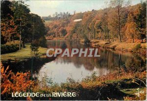 Modern Postcard The Banks of the Alder Brittany in colors Legend of the near ...