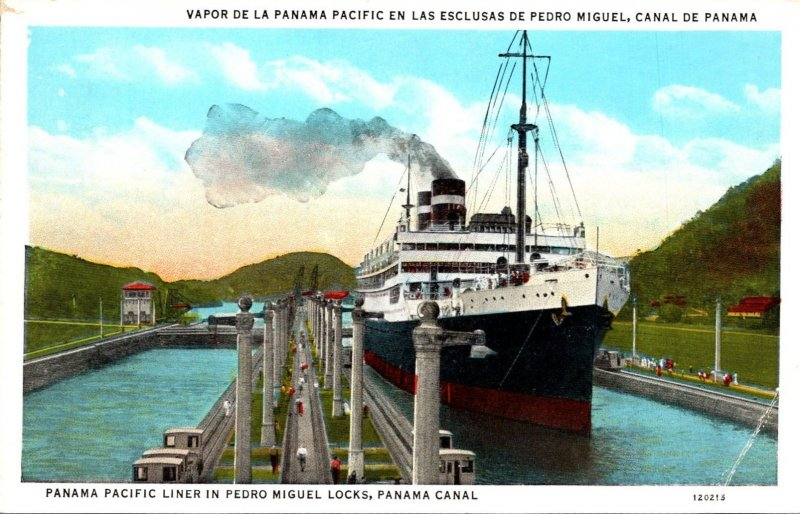 Panama Canal Panama Pacific Liner In Pedro Miguel Locks
