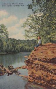 Arkansas Eureka Springs Scene On Osage River Curteich