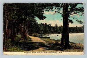 Traverse City MI, Birchwood Road East Bay, Vintage Michigan c1910 Postcard