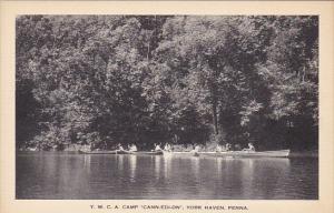 Canoeing At Y W C A Camp Cann-Edi-On York Haven Pennsylvania Artvue