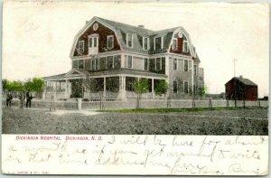 1907 Dickinson, North Dakota Postcard DICKINSON HOSPITAL Building / House View