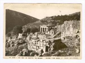 RP  Delphes, Greece , Voie Sacree et Tresor des Athenies, PU-1964