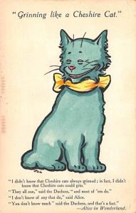 Cheshire Cat, Alice in Wonderland Hand Coloured Series No 2155 Writing on back