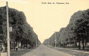 North Main Street Nappanee Indiana 1910c postcard