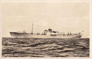MS Los Angeles Johnson Line Ferry Ship Real Photo Old Postcard