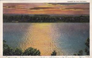 Pennsylvania Sunset In The Poconos 1931