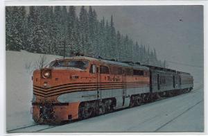 Rio Grande Yampa Valley Mail Railroad Train 6013 Winter Park Colorado postcard
