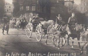 RP: War 1914-18 ; La fuite des Boches , Luxembourg , 1918