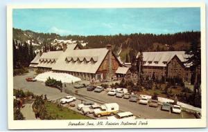 *Paradise Inn Mt. Rainier National Park Washington Old Classic Cars Postcard B79