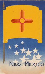 NEW MEXICO, State Flag , 40-50s ; Serigraph