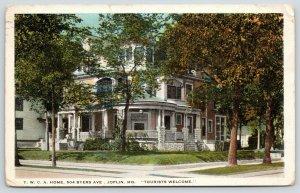 Joplin Missouri~YWCA Home on Byers Avenue~Trees in Front~1923 Postcard