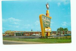 Postcard Michigan Flint Holiday Inn Vehical City 1950's Free Shipping# 2518A