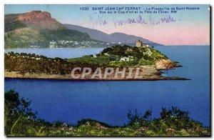 Old Postcard Saint Jean Cap Ferrat The Presqu island of Saint Hospice View Ca...
