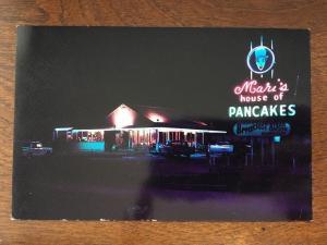 Mari's House of Pancakes at Night, US 41 at 42nd St., Sarasota, Florida FL d7