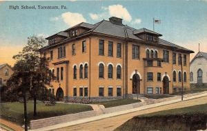 Pennsylvania Pa Postcard 1911 TARENTUM High School Building 1