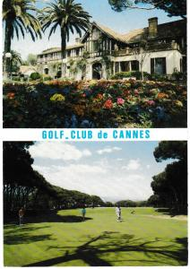 Post Card France Cannes GOLF CLUB DE CANNES 2 views