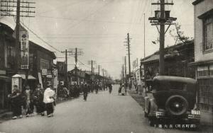 japan, SAGA KYUSHU, Shinmachi, Omote-o-dori, Main Street, Shops, Car (1920s)