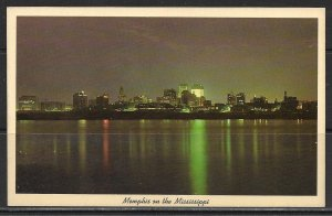 Tennessee, Memphis - City Skyline At Night - [TN-057]
