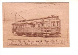 Toronto Railway Co 1326, Halton County Radial, Sketch on Thin Wood Slab