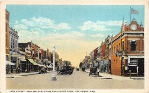 Columbus Nebraska~13th Street E @ Frankfort Park~Cigars~Ice Cream~Clock~Bar~'20s