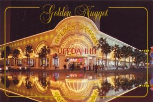 Continental-size THE GOLDEN NUGGET AT NIGHT. LAS VEGAS, NV The Collector Series