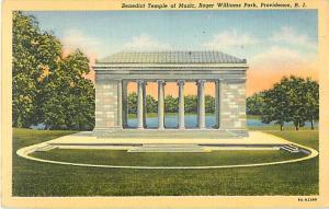 Benidict Temple of Music Roger Williams Park Providence RI 1944 Linen