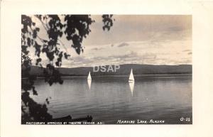 A47/ Harding Lake Alaska AK Real Photo RPPC Postcard c1940s Sailboat