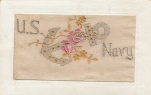 WAR 1914-18 ; U.S. Navy & Anchor ; Embroidered