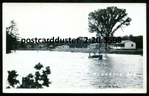 3599 - LAC ALOUETTE Que 1940s Waterfront Cabins. Real Photo Postcard by Vermette