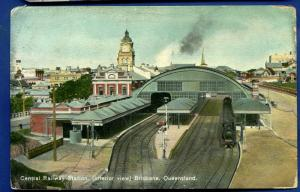 Brisbane Central Railway station interior view Queensland Australia postcard