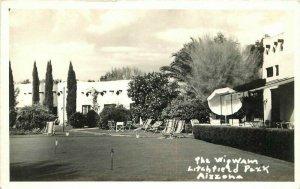 Litchfield Park Arizona Wigwam Hotel RPPC Photo Postcard 1930s roadside 20-51