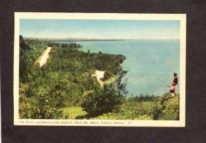 ON Drive Lake Superior Sault Ste Marie Ontario Canada Carte Postale Postcard