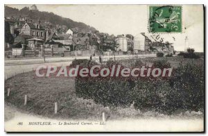 Postcard Old Honfleur Boulevard Carnot