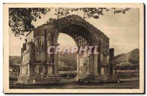 Old Postcard Landscapes and stones Provence Roman monument in Saint Remy de P...